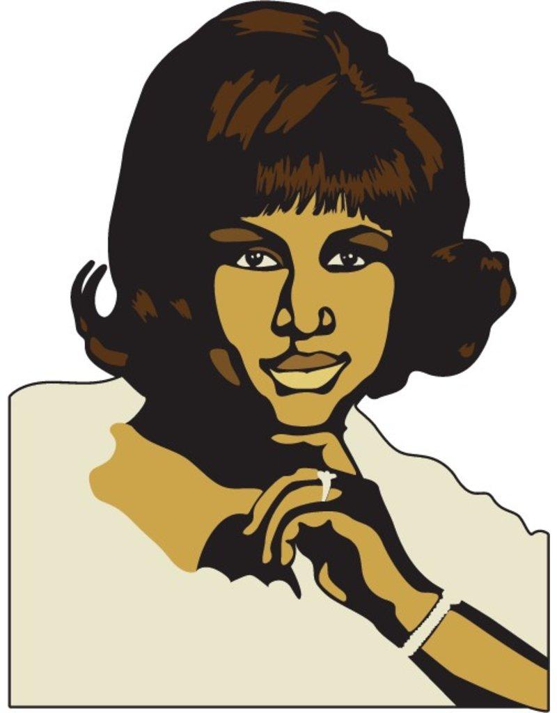 Muursticker Aretha Franklin