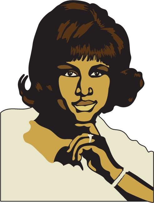 Etiqueta de la pared Aretha Franklin