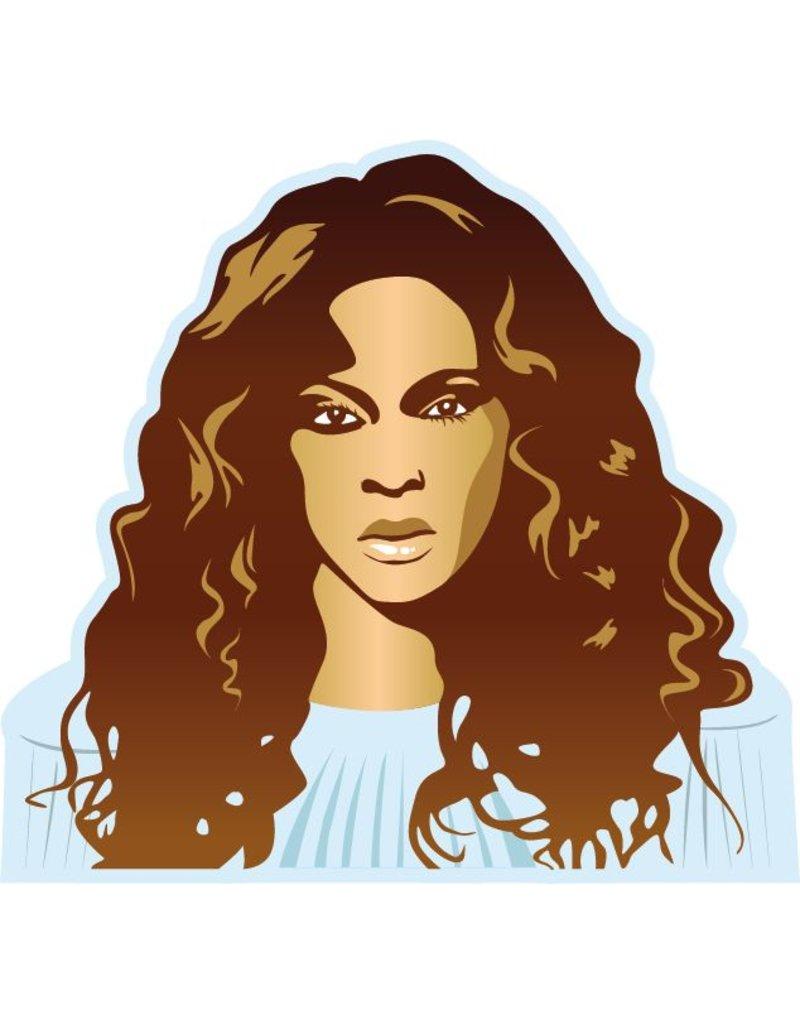 Etiqueta de la pared de Beyoncé