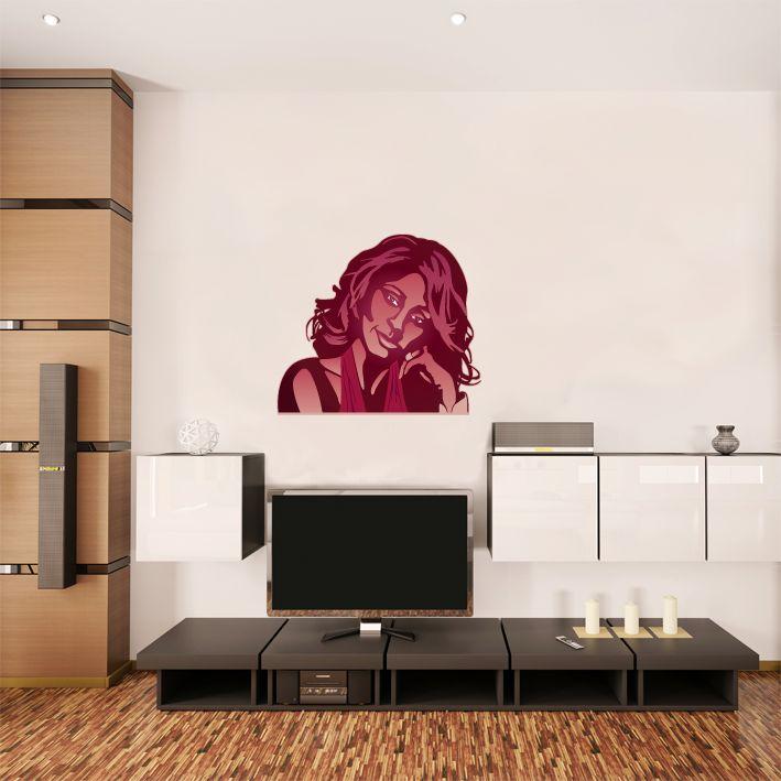 Wandaufkleber Whitney Houston