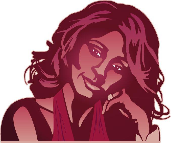 Etiqueta de la pared de Whitney Houston