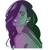 Etiqueta de la pared Rihanna
