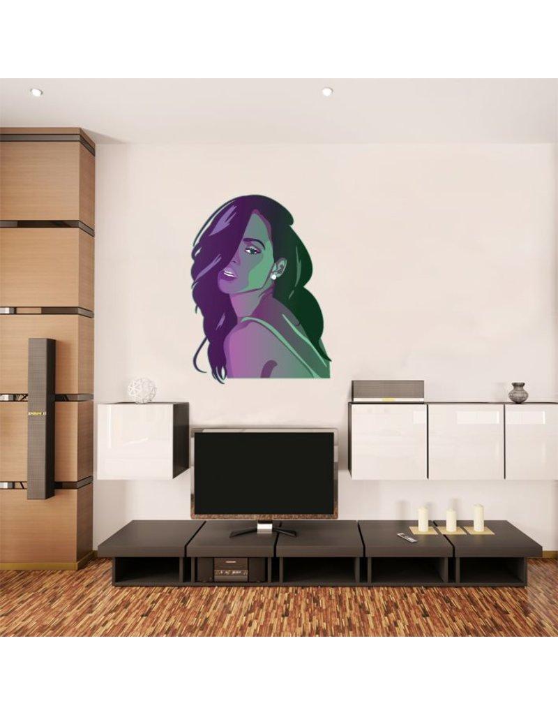 Autocollant Mural Rihanna