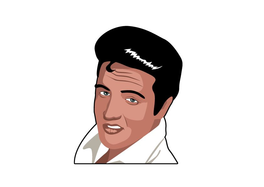 Wandtattoo Elvis