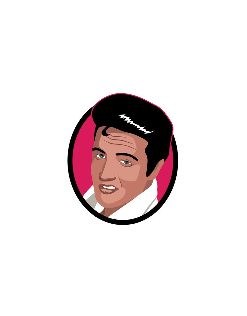 Wall Decal Elvis cercle