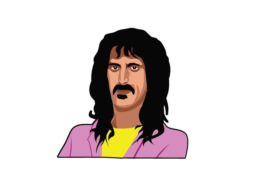 Wandaufkleber Frank Zappa