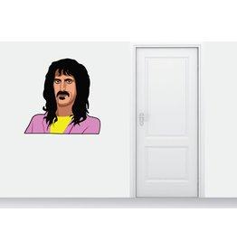Etiqueta de la pared de Frank Zappa