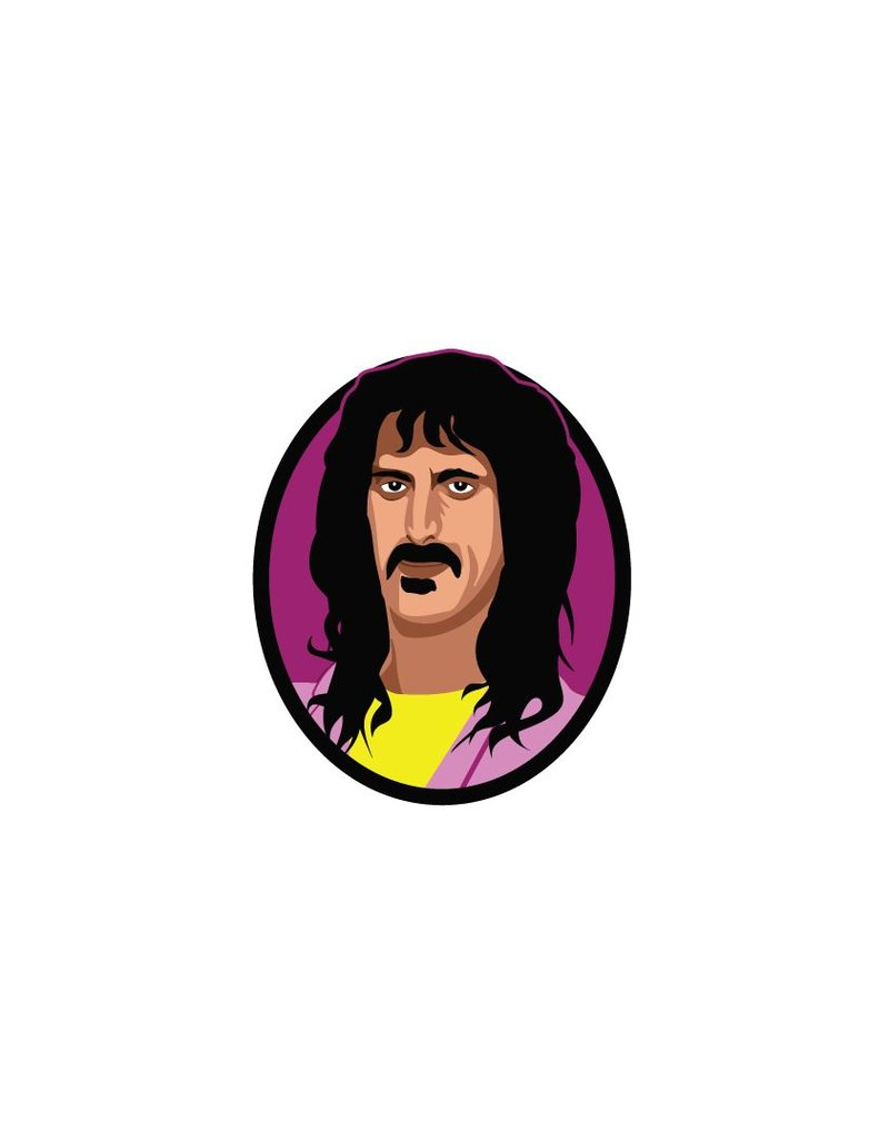 Wandaufkleber Frank Zappa Kreis
