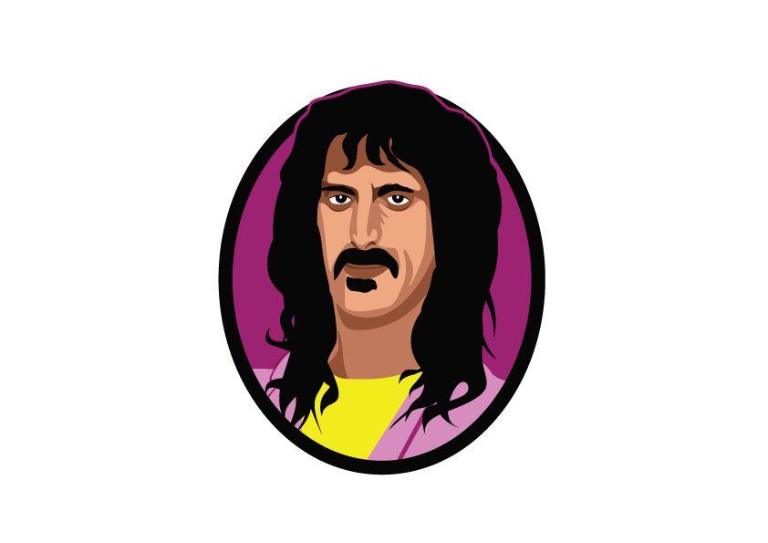 Autocollant Mural Frank Zappa cercle