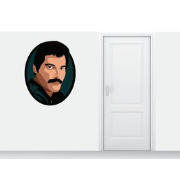 círculo etiqueta de la pared Freddy Mercury