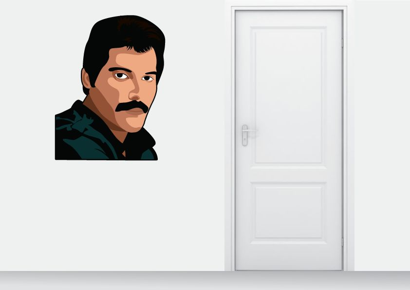 Etiqueta de la pared Freddy Mercury