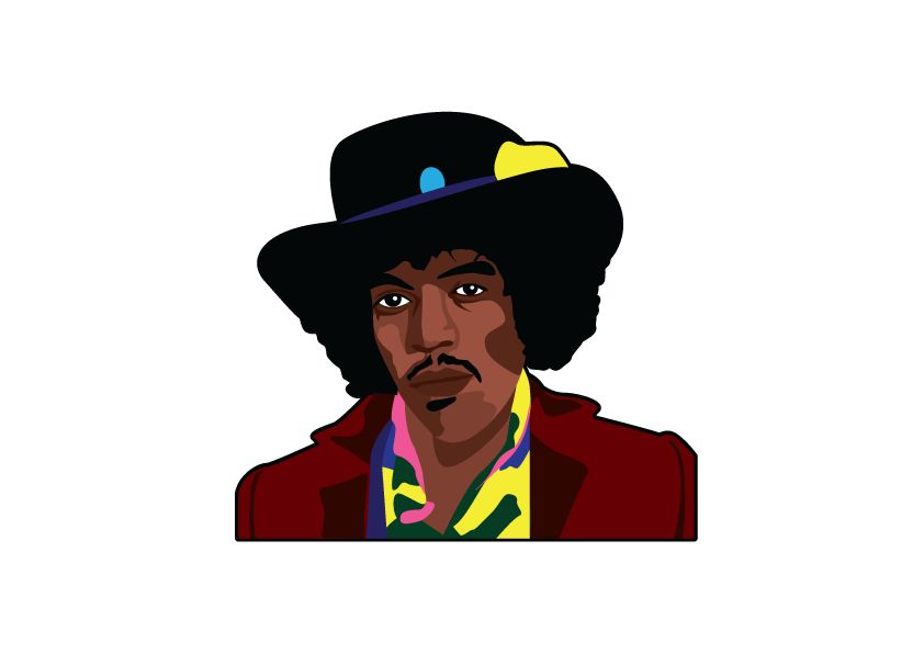 Wall Sticker Jimmy Hendrix