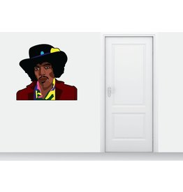 Etiqueta de la pared Jimmy Hendrix