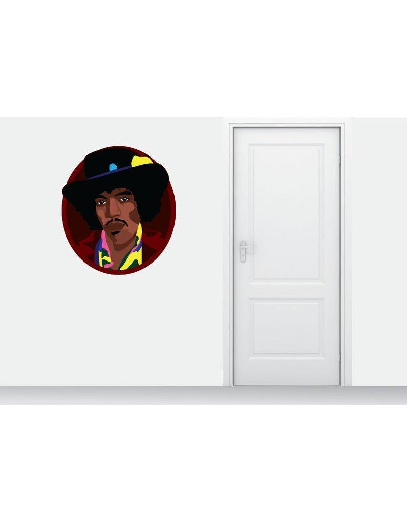 Wandaufkleber Jimmy Hendrix Kreis