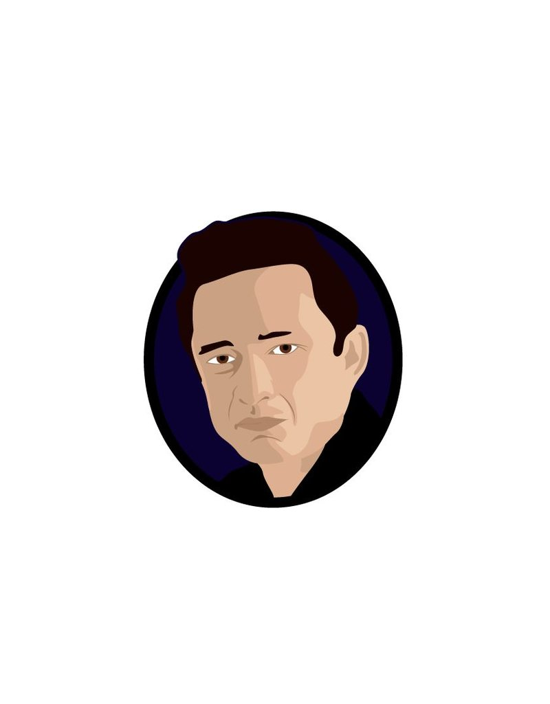 Muursticker Johnny Cash cirkel