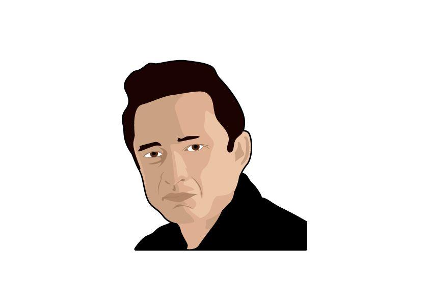Wandaufkleber Johnny Cash Kreis
