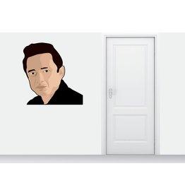 Wall Sticker Johnny Cash circle