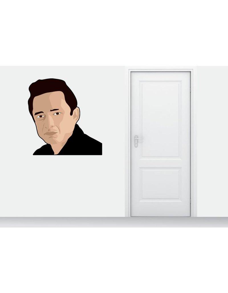 cercle Autocollant Mural Johnny Cash