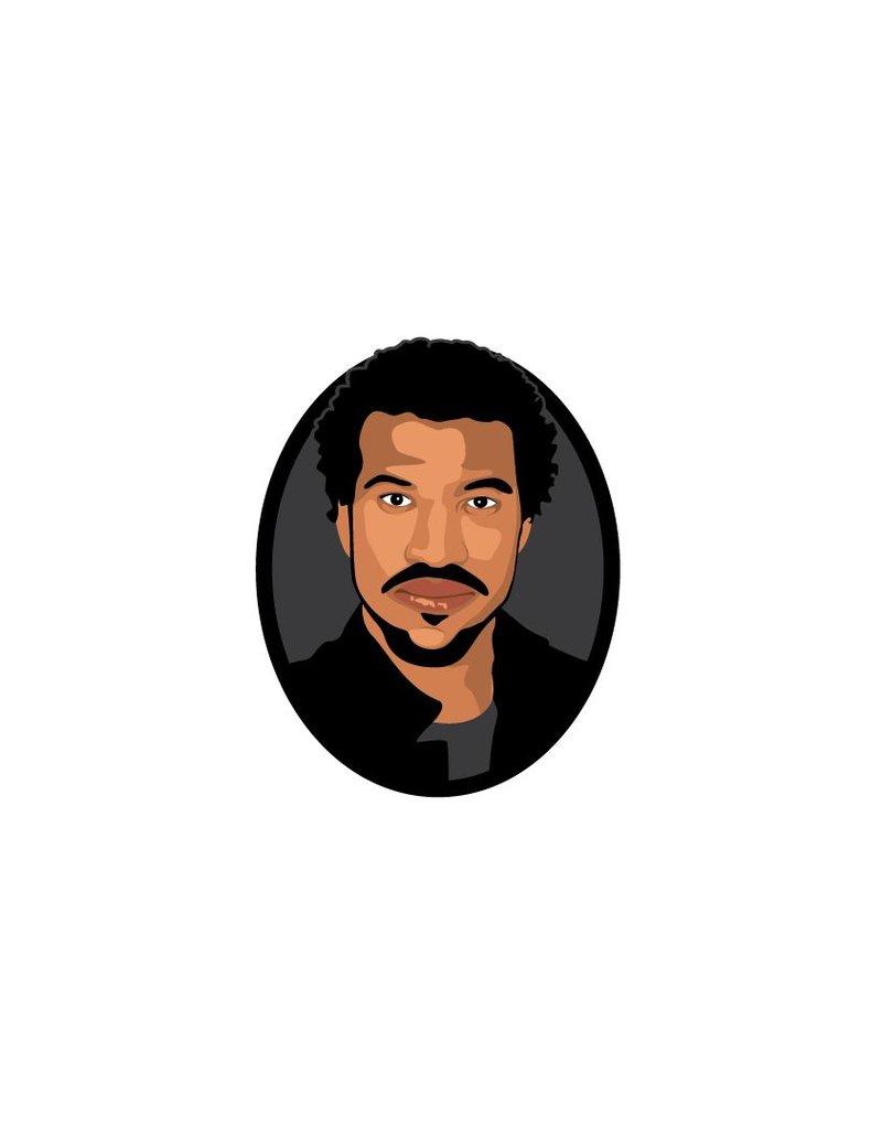 Muursticker Lionel Richie cirkel