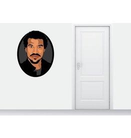 Autocollant Mural Lionel Richie cercle