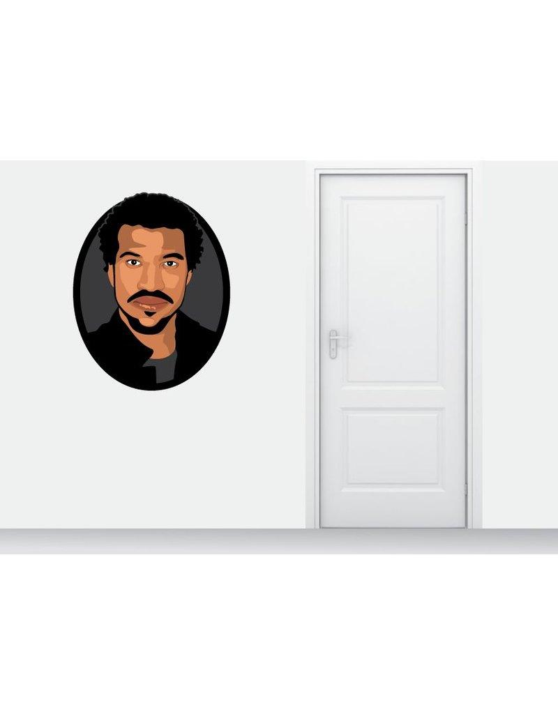 círculo etiqueta de la pared de Lionel Richie