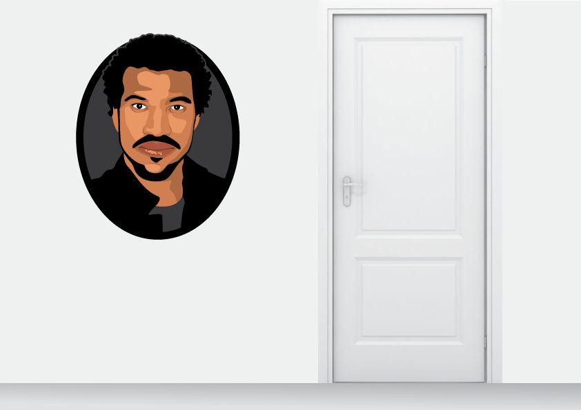 Wall Sticker Lionel Richie circle