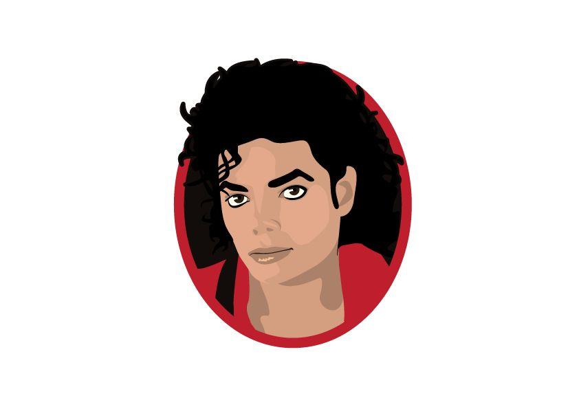 Wall Sticker Michael Jackson circle