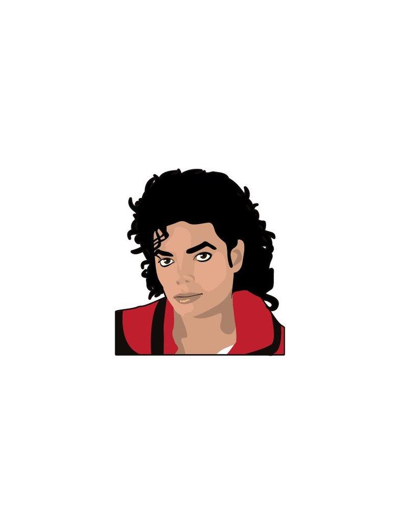 Etiqueta de la pared de Michael Jackson