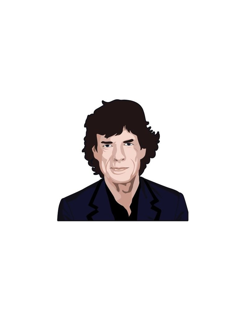 Wandaufkleber Mick Jagger