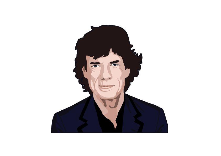 Etiqueta de la pared Mick Jagger