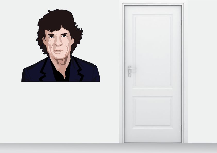 Wall Sticker Mick Jagger