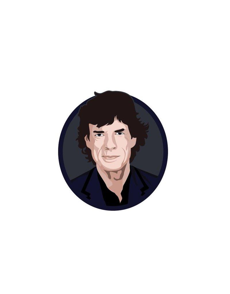 Wandaufkleber Mick Jagger Kreis