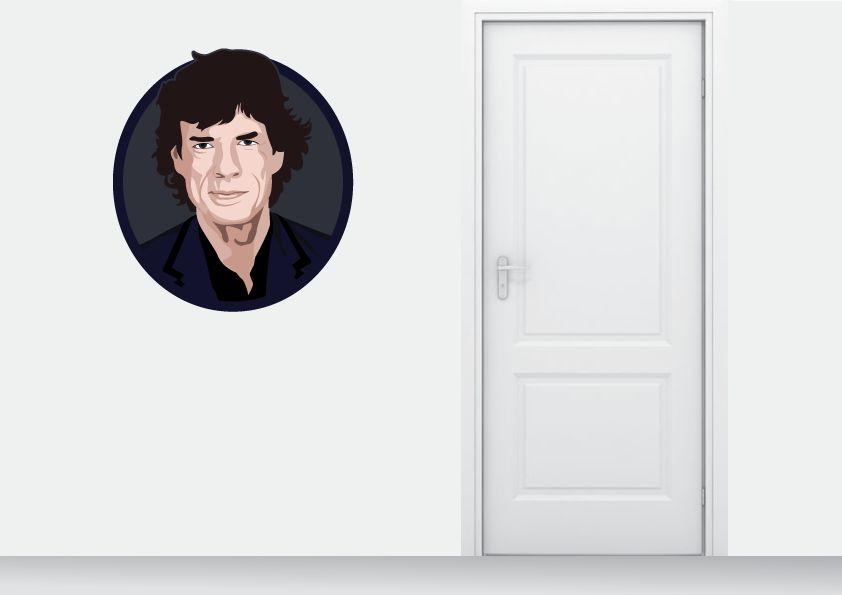 Wall Sticker Mick Jagger circle