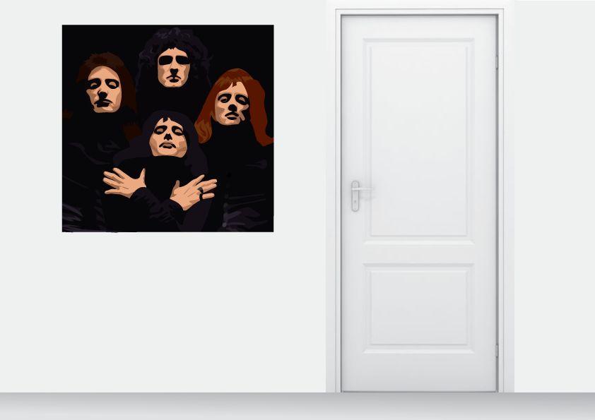 Etiqueta de la pared de la reina
