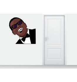 Etiqueta de la pared de Ray Charles
