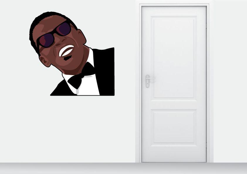Etiqueta de la pared de Ray Charles