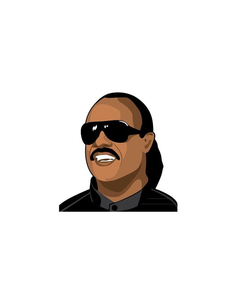 Muursticker Stevie Wonder