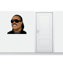 Etiqueta de la pared de Stevie Wonder