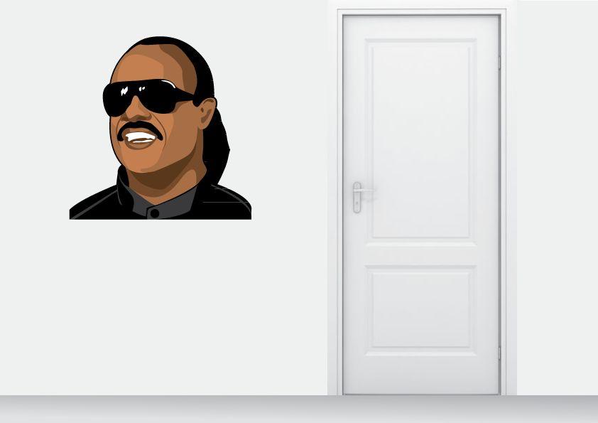 Etiqueta de la pared de Stevie Wonder