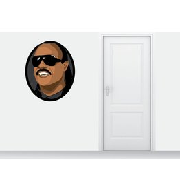 círculo etiqueta de la pared de Stevie Wonder