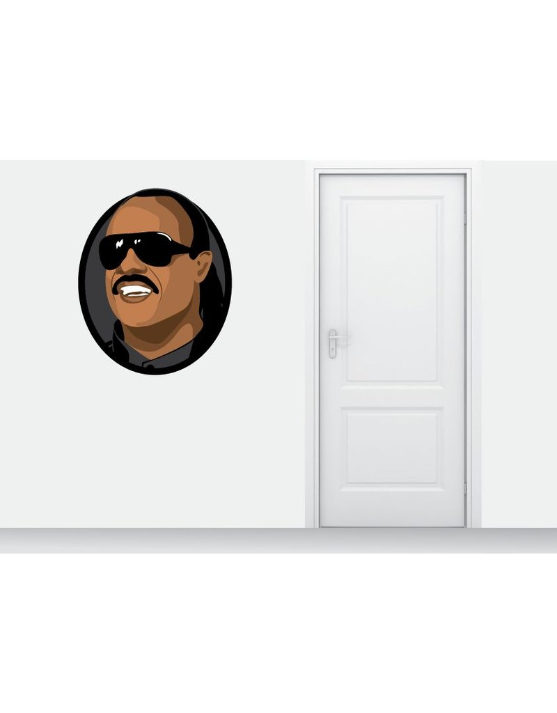Muursticker Stevie Wonder cirkel