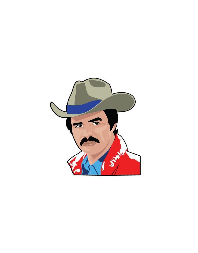 Wandaufkleber Burt Reynolds