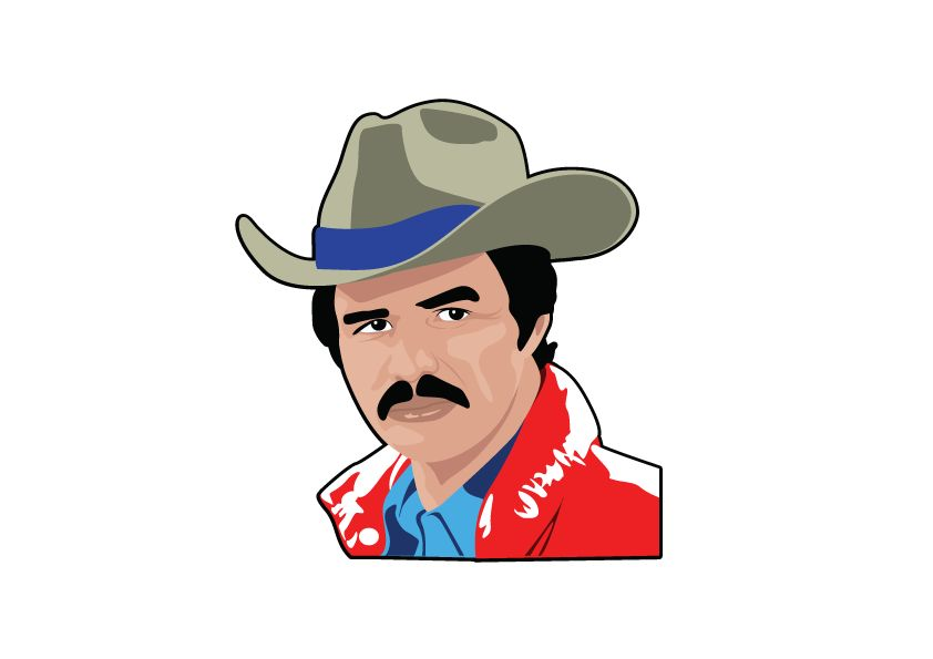 Wall Sticker Burt Reynolds