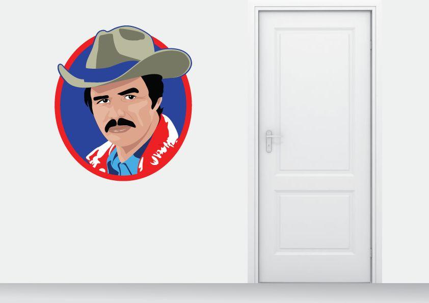 Autocollant Mural Burt Reynolds cercle
