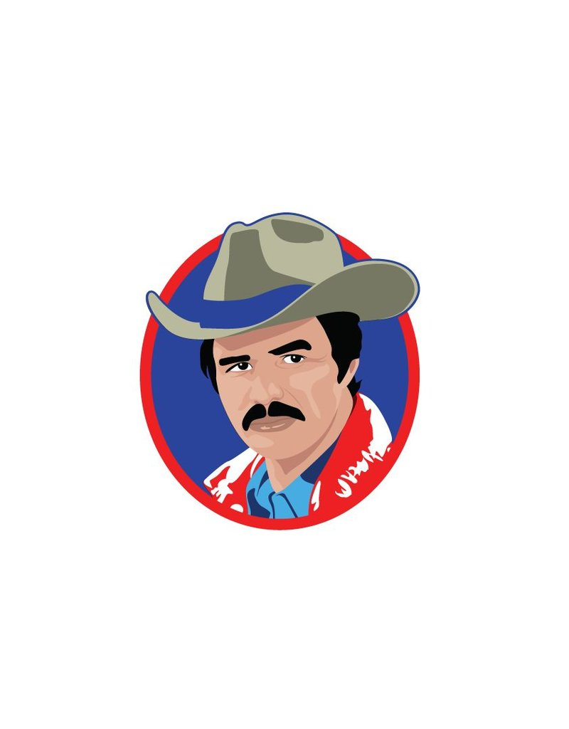 Wall Sticker Burt Reynolds circle