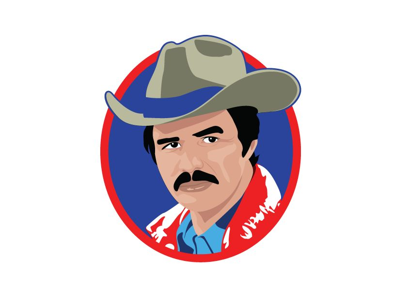 Wall Sticker Burt Reynolds circle