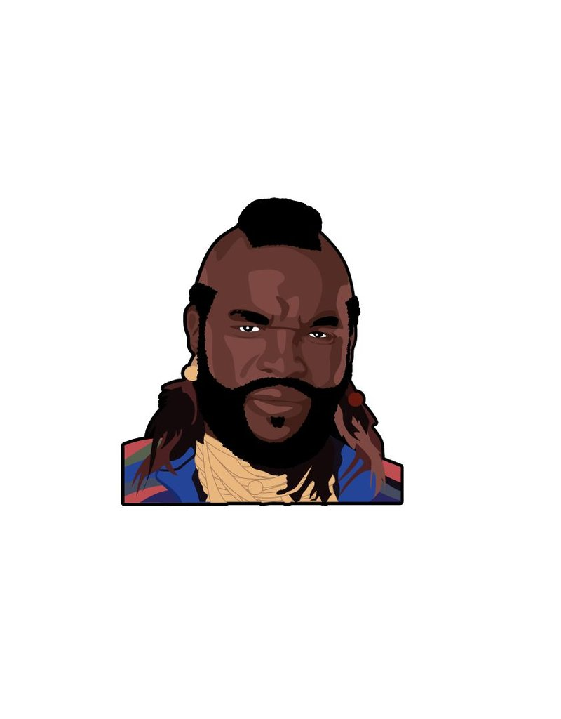 Wall Sticker BA Baracus full color