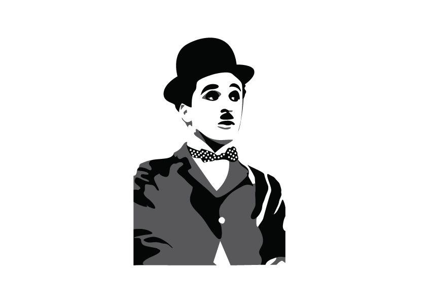 Etiqueta de la pared de Charlie Chaplin