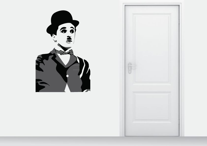 Wall Sticker Charlie Chaplin