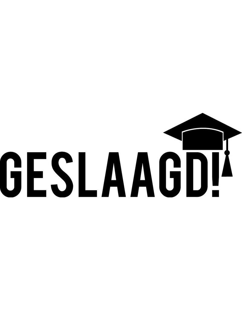 Geslaagd raamsticker - Graduatie hoed